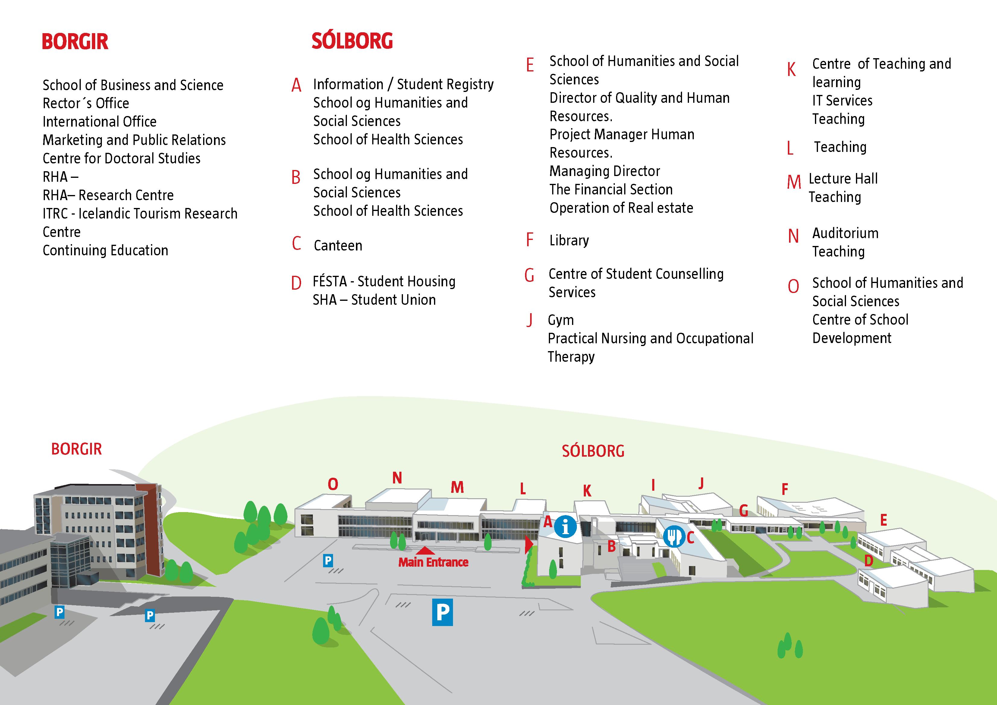 Campus Map University Of Akureyri
